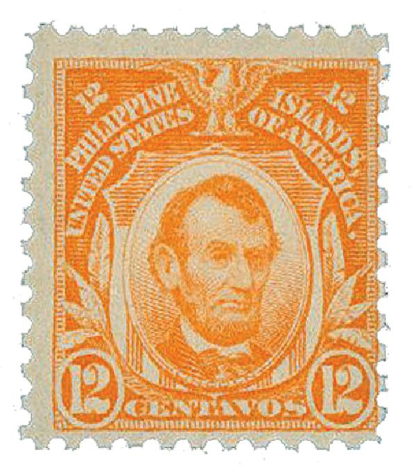 1917 12c Philippines, red orange, unwatermarked, perf 11