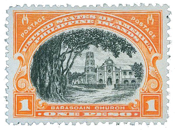 1935 1p Philippines, red orange, black, unwatermarked,perf 11