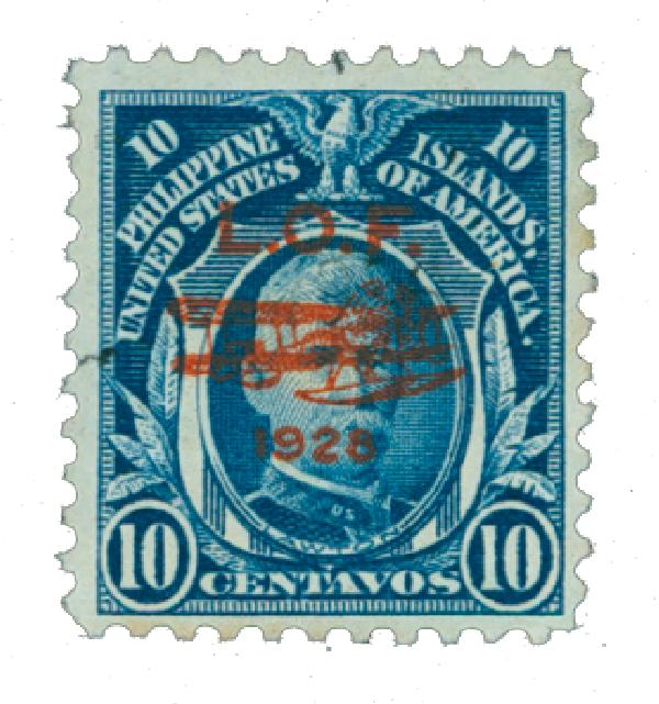 1928 10c Philippine Islands Airmail, deep blue