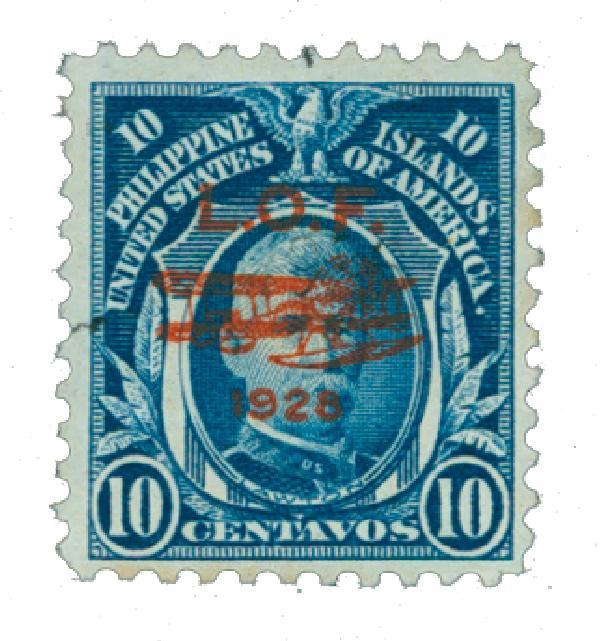 1928 10c Philippine Islands Airmail, deep blue