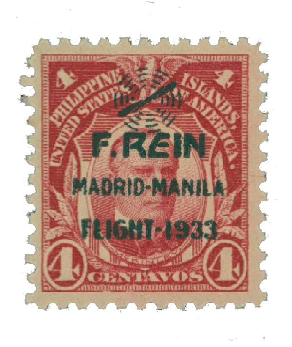 1933 4c Philippine Islands Airmail, carmine