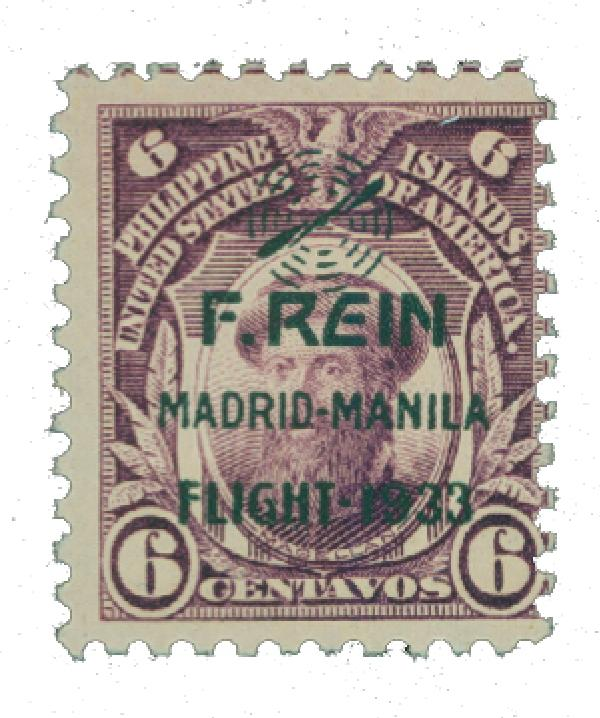 1933 6c Philippine Islands Airmail, deep violet,on US Regular Issues