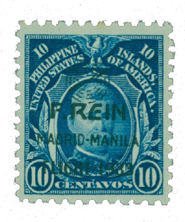 1933 10c Philippine Islands Airmail, dark blue,on US Regular Issues
