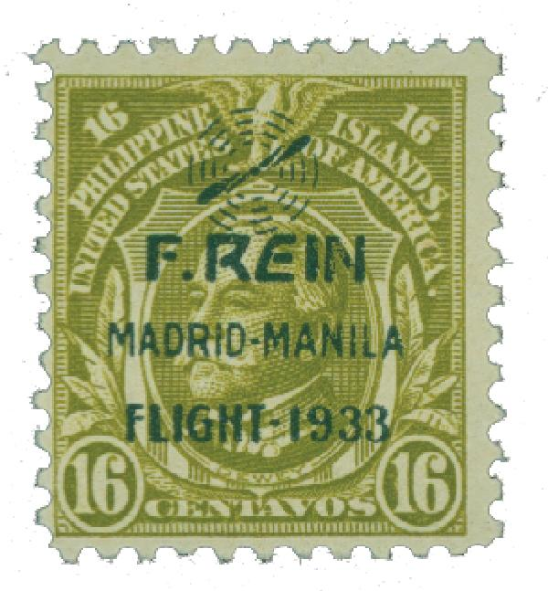 1933 16c Philippine Islands Airmail, olive green,on US Regular Issues