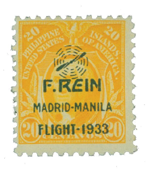 1933 20c Philippine Islands Airmail, yellow, on US Regular Issues
