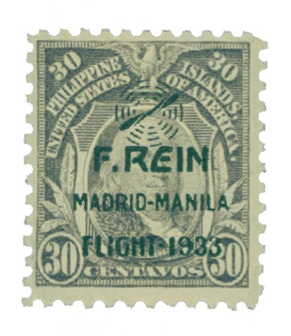 1933 30c Philippine Islands Airmail, gray, on US Regular Issues