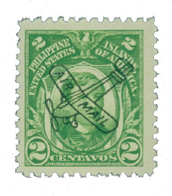 1933 2c Philippine Islands Airmail, green, unwatermarked, perf 11