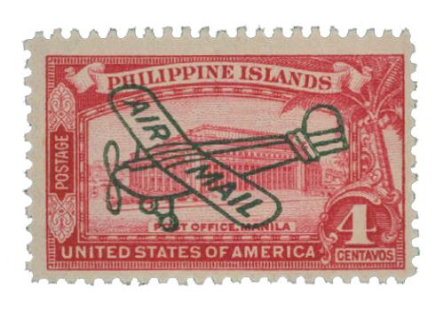 1933 4c Philippine Islands Airmail, rose carmine, unwatermarked, perf 11