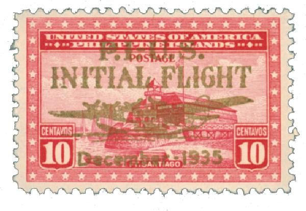 1935 10c Philippine Islands Airmail, rose carmine,unwatermarked, perf 11