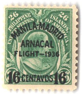1936 16c on 26c Philippine Islands Airmail, green, #s 291, 295, 298a, 298