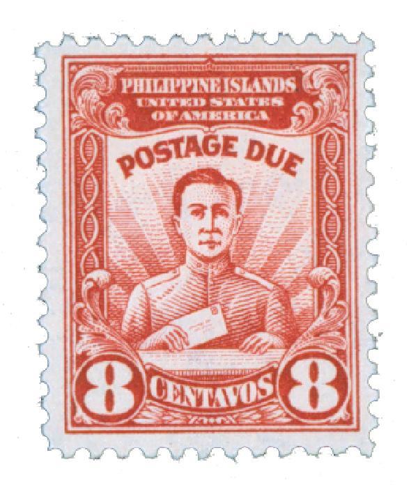 1928 8c Philippine Islands Postage Due, brown red