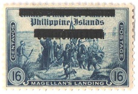 1942 16c Philippines Occupation Stamp, dark blue