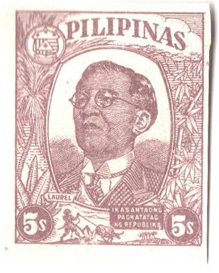 1945 5c Philippines Occupation Stamp, dull violet brown
