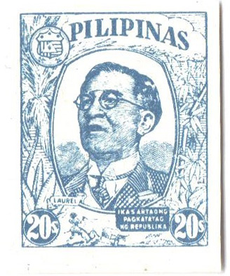 1945 20c Philippines Occupation Stamp, chalky blue