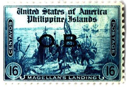 1935 16c Philippine Islands Official Stamp, dark blue