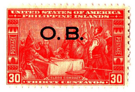 1931 30c Philippine Islands Official Stamp, orange red, unwatermarked, perf 11