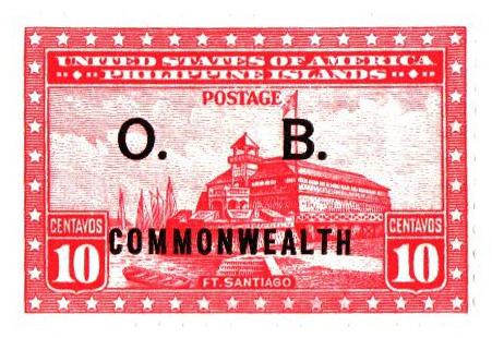 1938-40 10c Philippine Islands Official Stamp, rose carmine