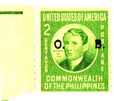 1941 2c Philippine Islands Official Stamp, apple green