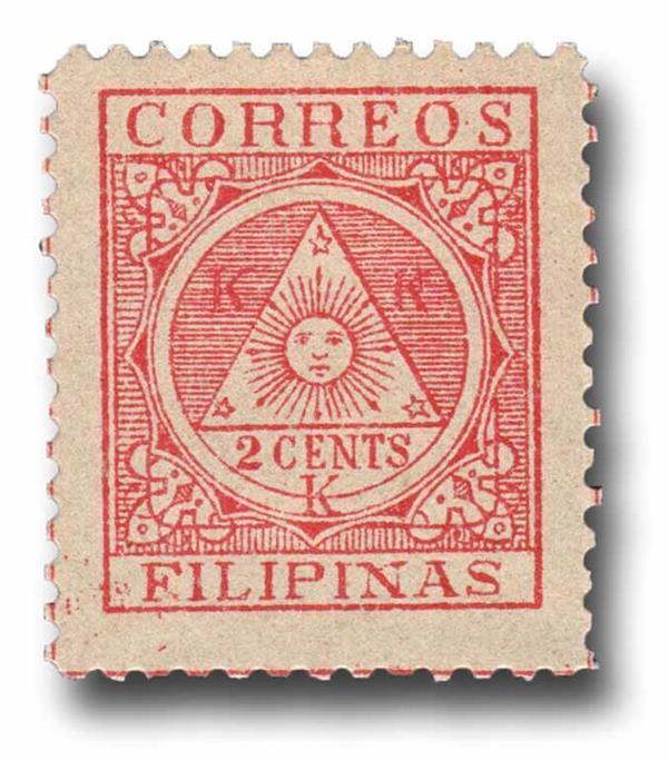 1898-99 2c Philippino Revolutionary Government Stamp, red