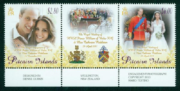 2011 Pitcairn Islands William & Kate 2v