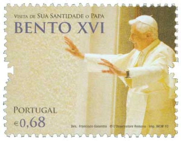 2010 Portugal Pope Benedict 1v Mint