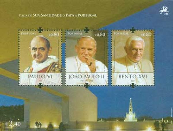 2010 Portugal Popes 3v Mint
