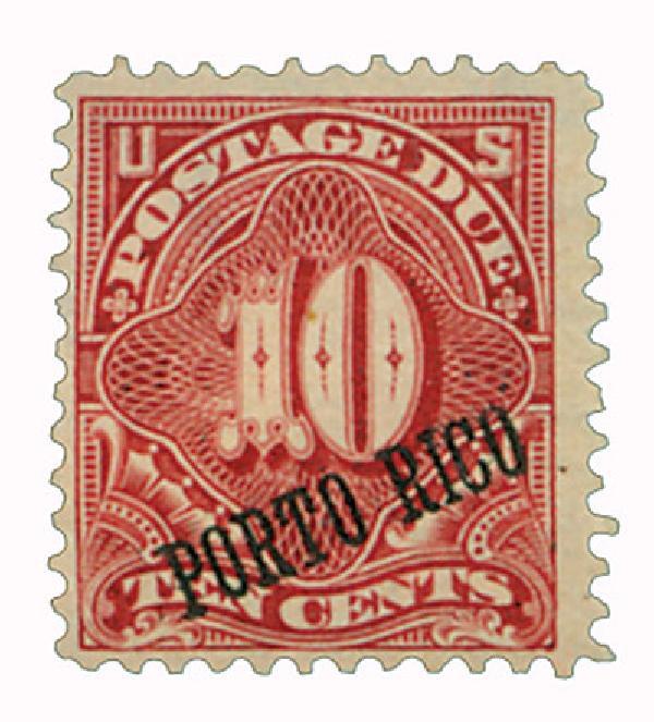 1899 10c Puerto Rico Postage Due, overprint, deep claret