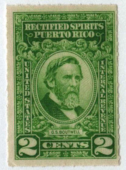 1942-57 2c Puerto Rico Rectified Spirits, bright yellow green, without gum