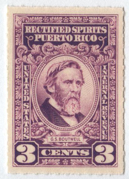 1942-57 3c Puerto Rico Rectified Spirits, lilac, without gum