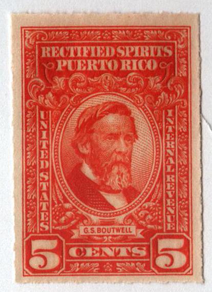 1942-57 5c Puerto Rico Rectified Spirits, orange, without gum