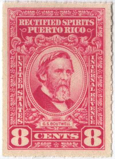 1942-57 8c Puerto Rico Rectified Spirits, bright pink, without gum