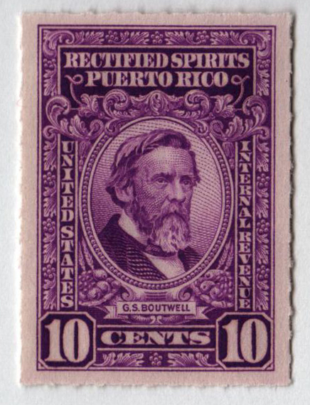 1942-57 10c Puerto Rico Rectified Spirits, bright purple, without gum