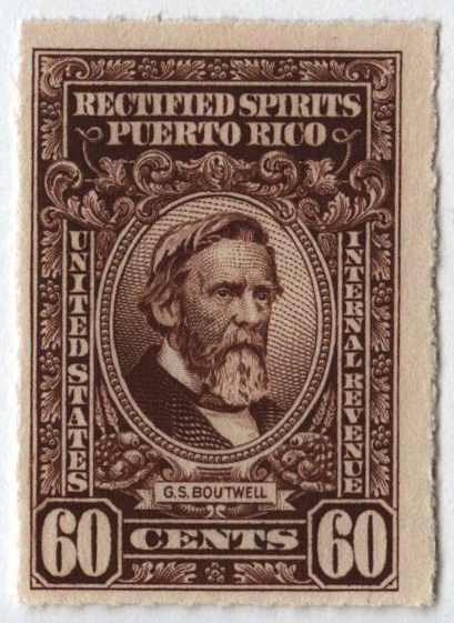 1942-57 60c Puerto Rico Rectified Spirits, brown, without gum