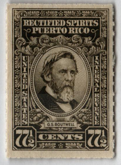 1942-57 77½c Puerto Rico Rectified Spirits, olive gray, without gum