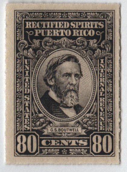 1942-57 80c Puerto Rico Rectified Spirits, brownish black, without gum