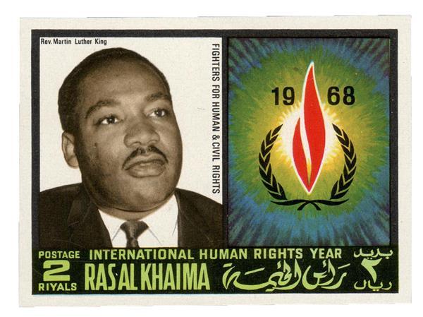 1968 Ras Al Khaima - Martin Luther King Jr., (1929-68)
