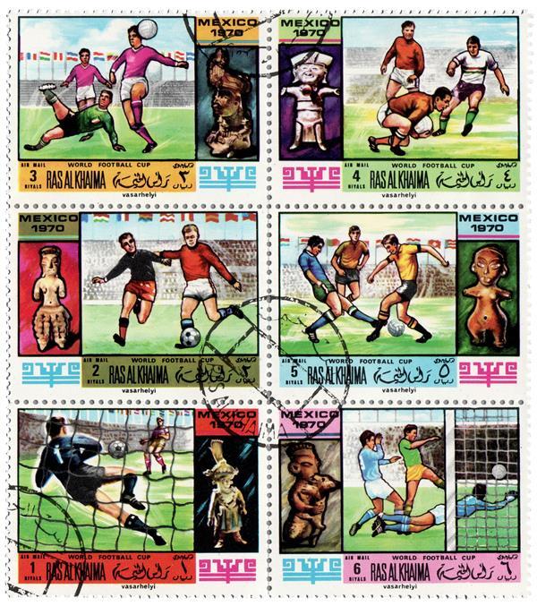 1970 Ras Al Khaima - 1970 World Cup, Mexico, Complete Set of 6