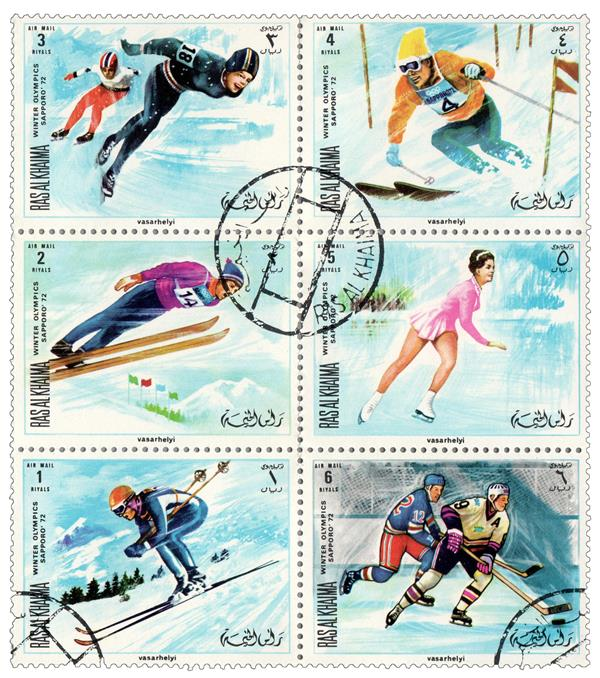 1970 Ras Al Khaima - 1970 Sapporo Winter Olympics, Complete Set of 6