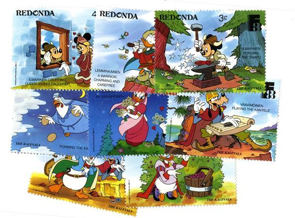 Redonda 1988 The Kalevala, 8 Stamps