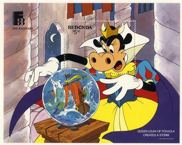 Redonda 1988 Queen Louhi, Mint S/S