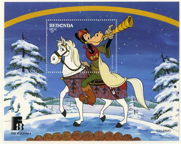 Redonda 1988 Kullervo, Mint S/S