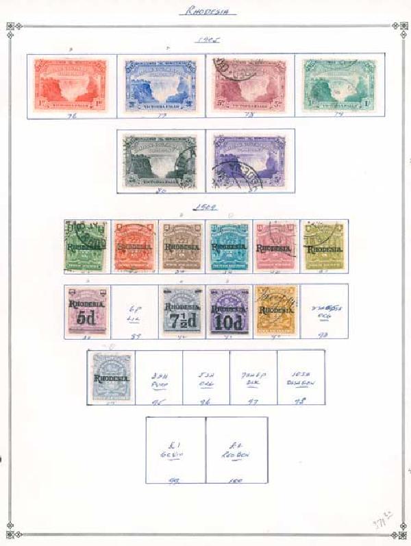 1890-1910 Rhodesia
