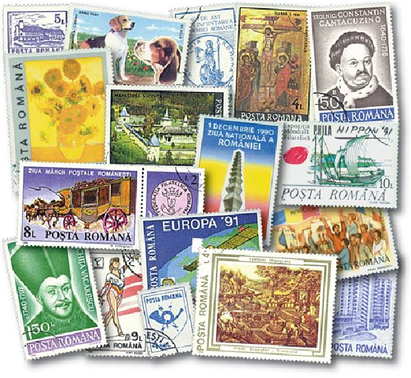 1990-91 Romania, 122 Stamps, Cancelled