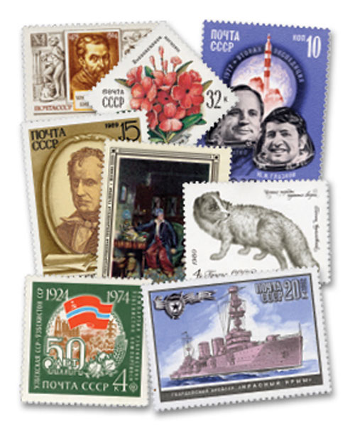 Russia set of 500 mint stamps