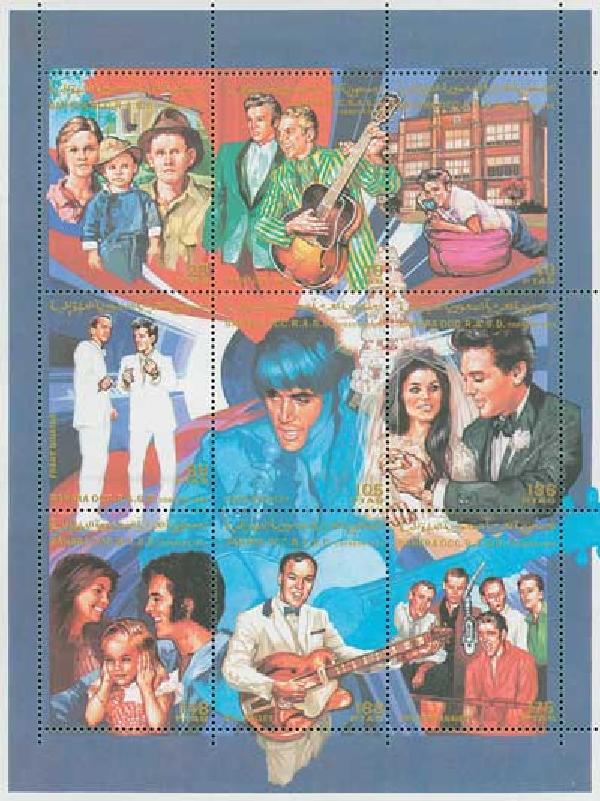 Sahara, Elvis Life & Times sheetlet 9