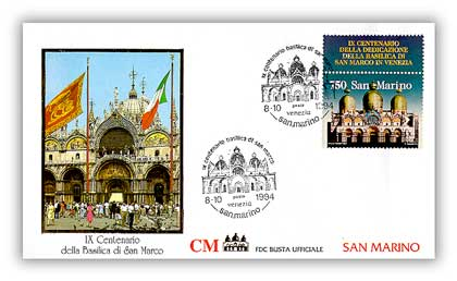 1994 San Marino Joint Issue FDC