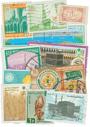 Saudi Arabia, 100 stamps