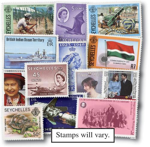 Seychelles, 25 stamps
