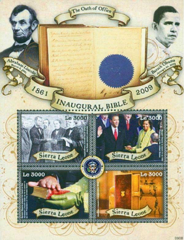 2009 Sierra Leone Abe Lincoln 4v Mint