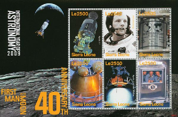2009 Sierra Leone - 40th Anniversary Moon Landing